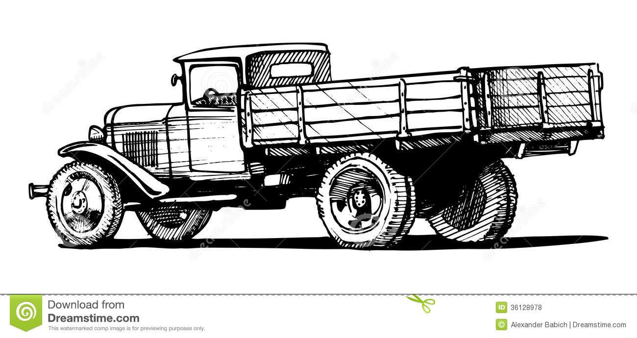 Truck clipart classic truck Collection truck Art clipart Vector