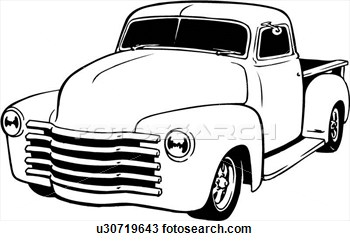 Truck clipart classic truck Old Truck Drawing Old truck