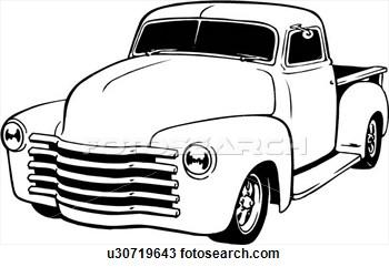 Truck clipart classic truck Truck Clipart Drawing Pinterest Truck