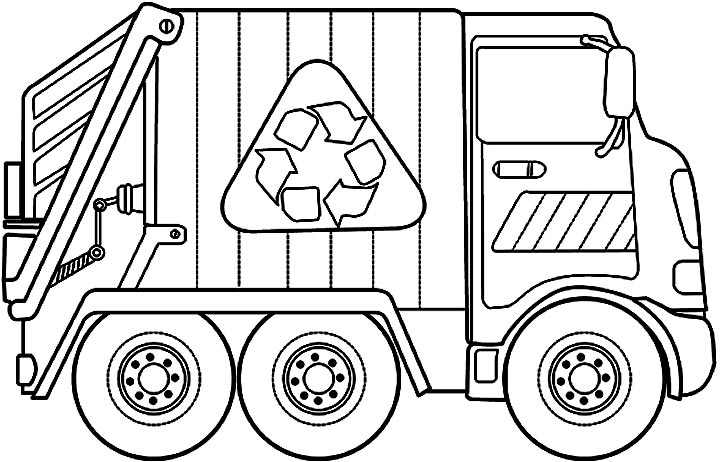 Truck clipart coloring book Truck Ideas Garbage Gallery Garbage