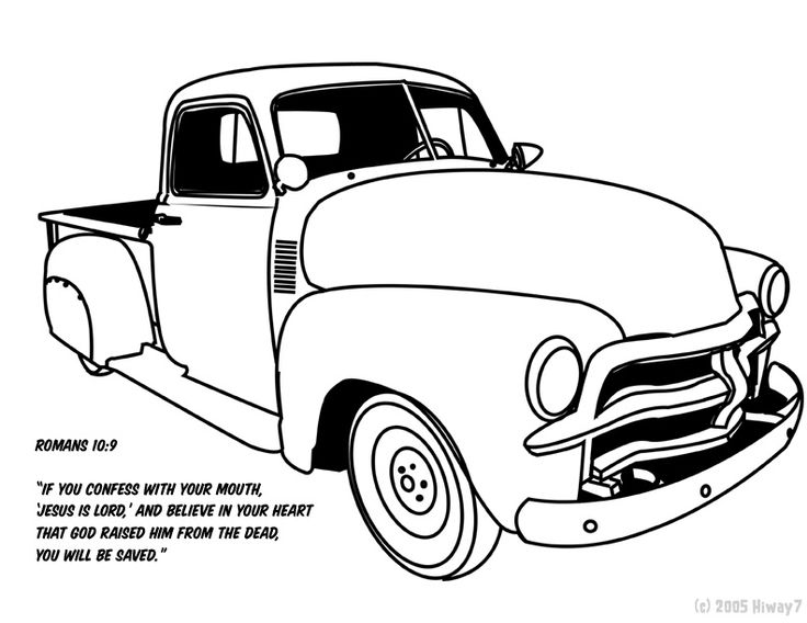 Truck clipart coloring book On trucks on Art by