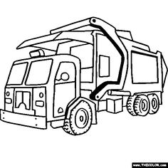 Truck clipart coloring book Pages them Coloring times love
