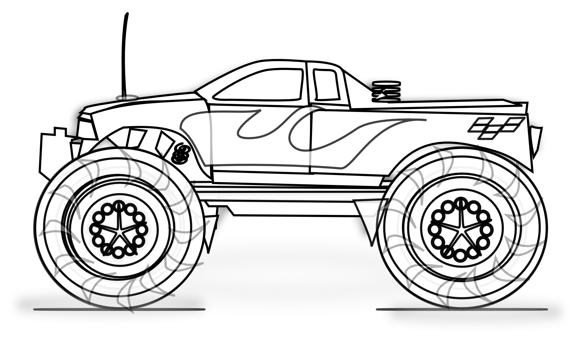 Truck clipart coloring book White Book 1979px Toy Truck