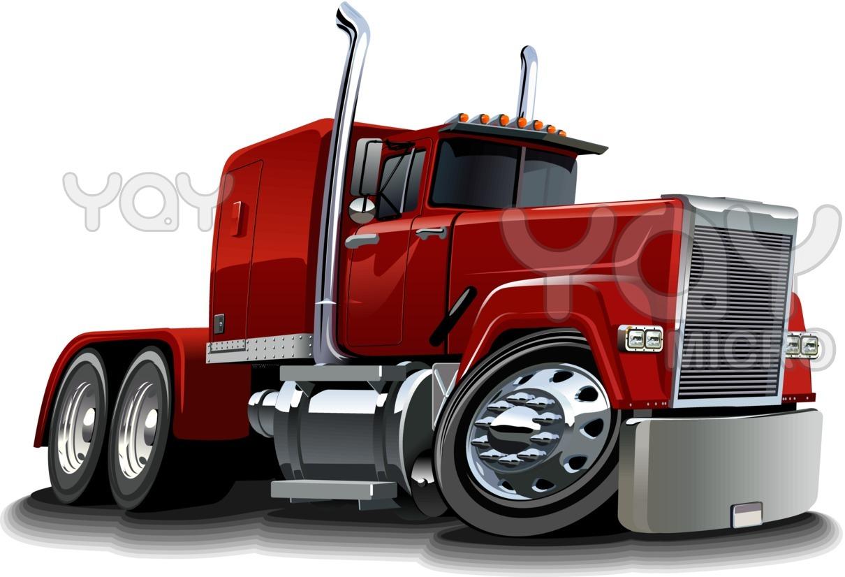 Truck clipart comic Of Drawings Trucks  semi