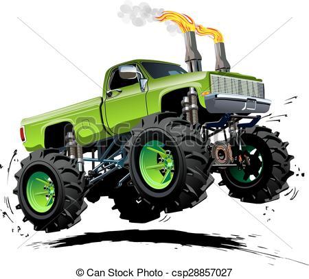 Truck clipart comic Truck Monster Available Cartoon Truck