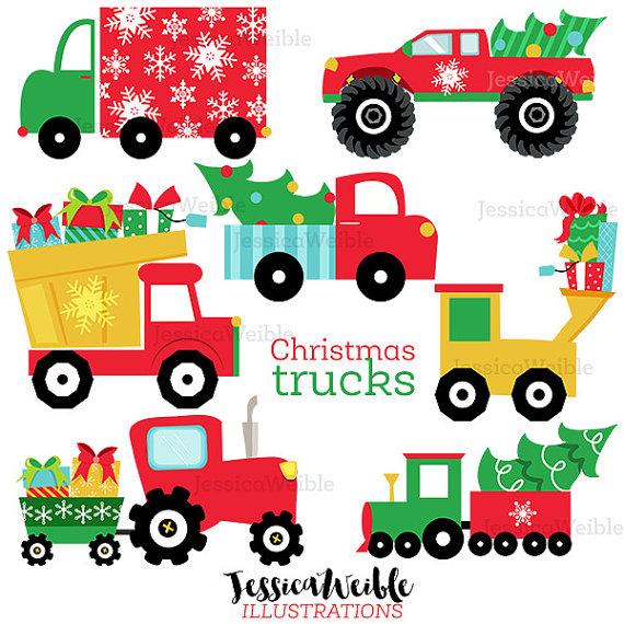 Cute clipart truck Christmas Trucks Clipart Gifts Truck