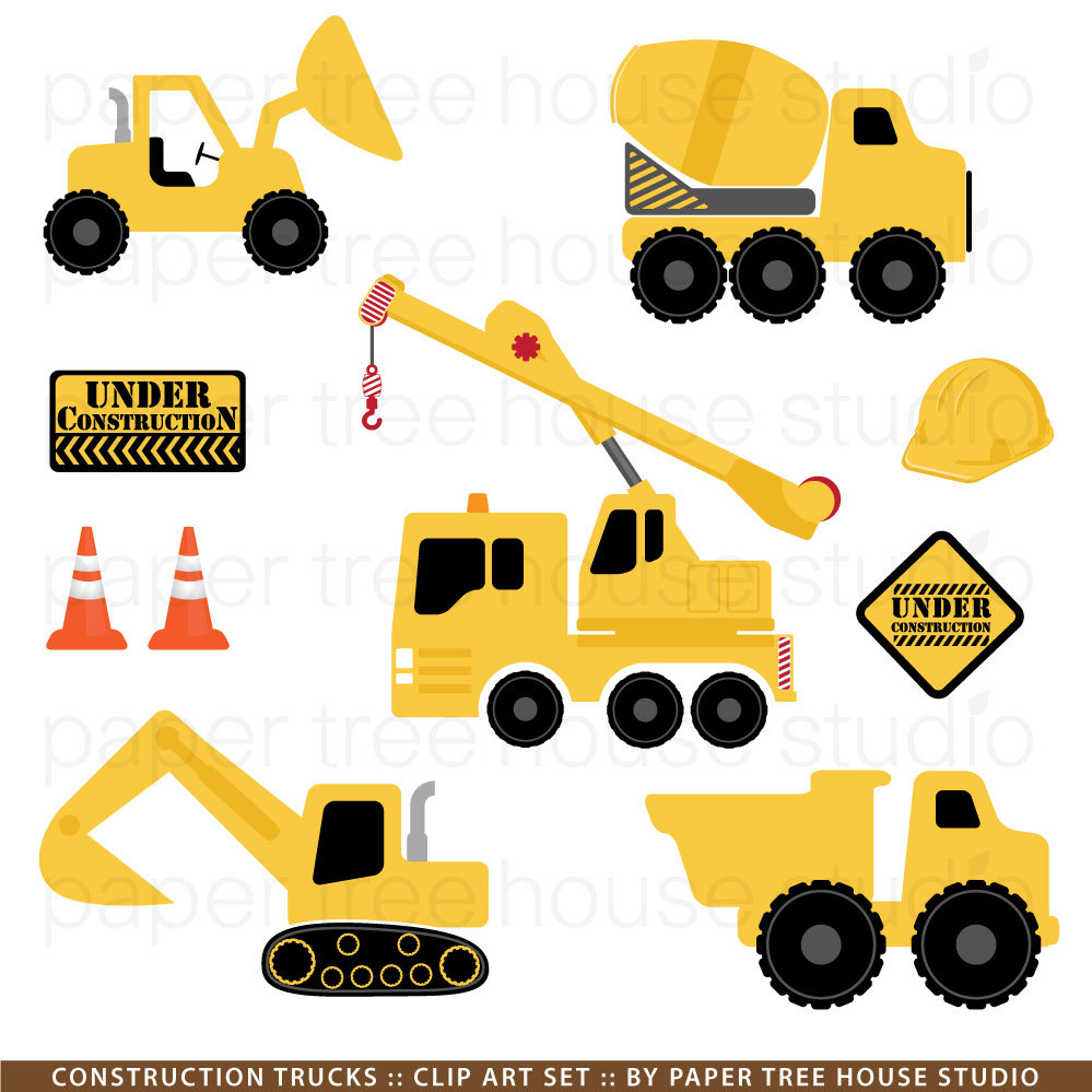 Excovator clipart truck Excavator  Collection Construction consruction