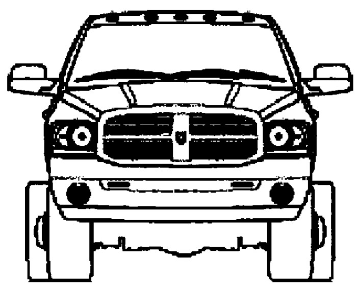 Truck clipart dodge ram  Coloring Cars Mini Coloring