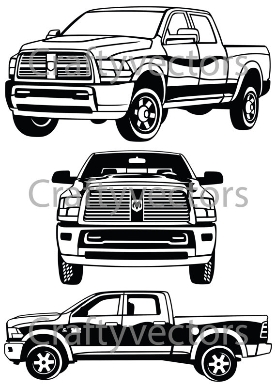 Truck clipart dodge ram Vector Dodge Studio Etsy CraftyVectors