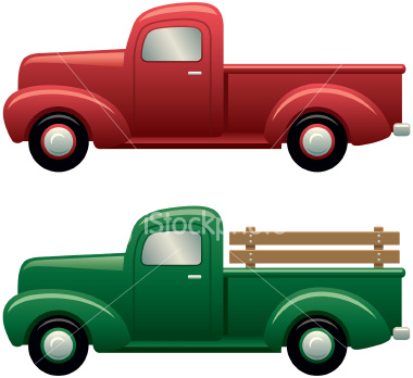 Red clipart pick up truck #5