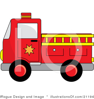 Fire Truck clipart simple #6