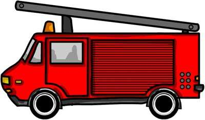 Fire Truck clipart printable #2