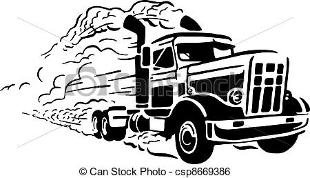 Truck clipart road transport Art Clip Isolated Vector of