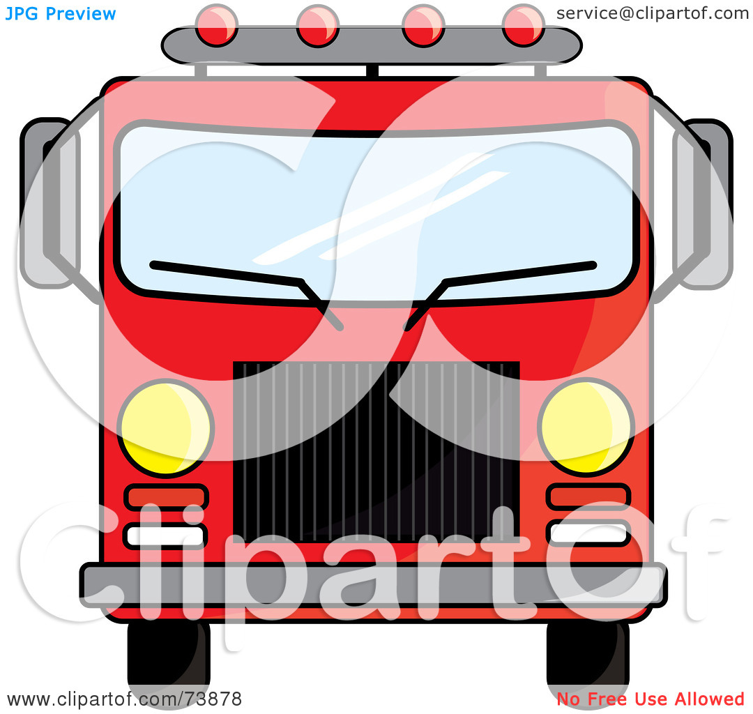 Fire Truck clipart front view Clipart Free Truck Fire Images