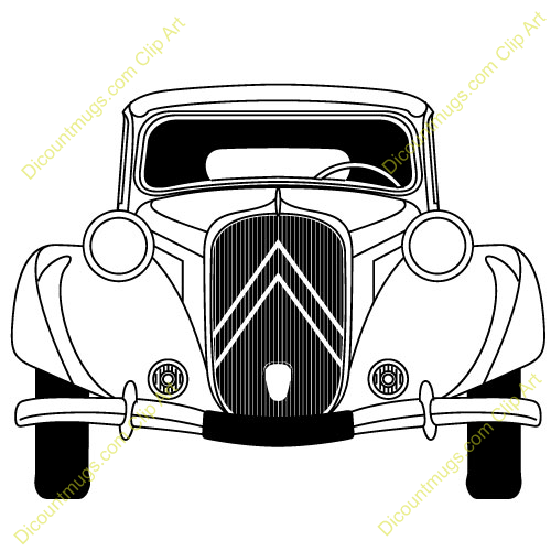 Classic Car clipart front view Front Classic  Truck Clipart