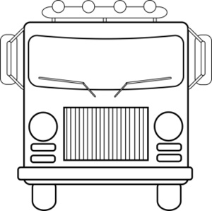 Fire Truck clipart front view A Head Coloring Coloring Image