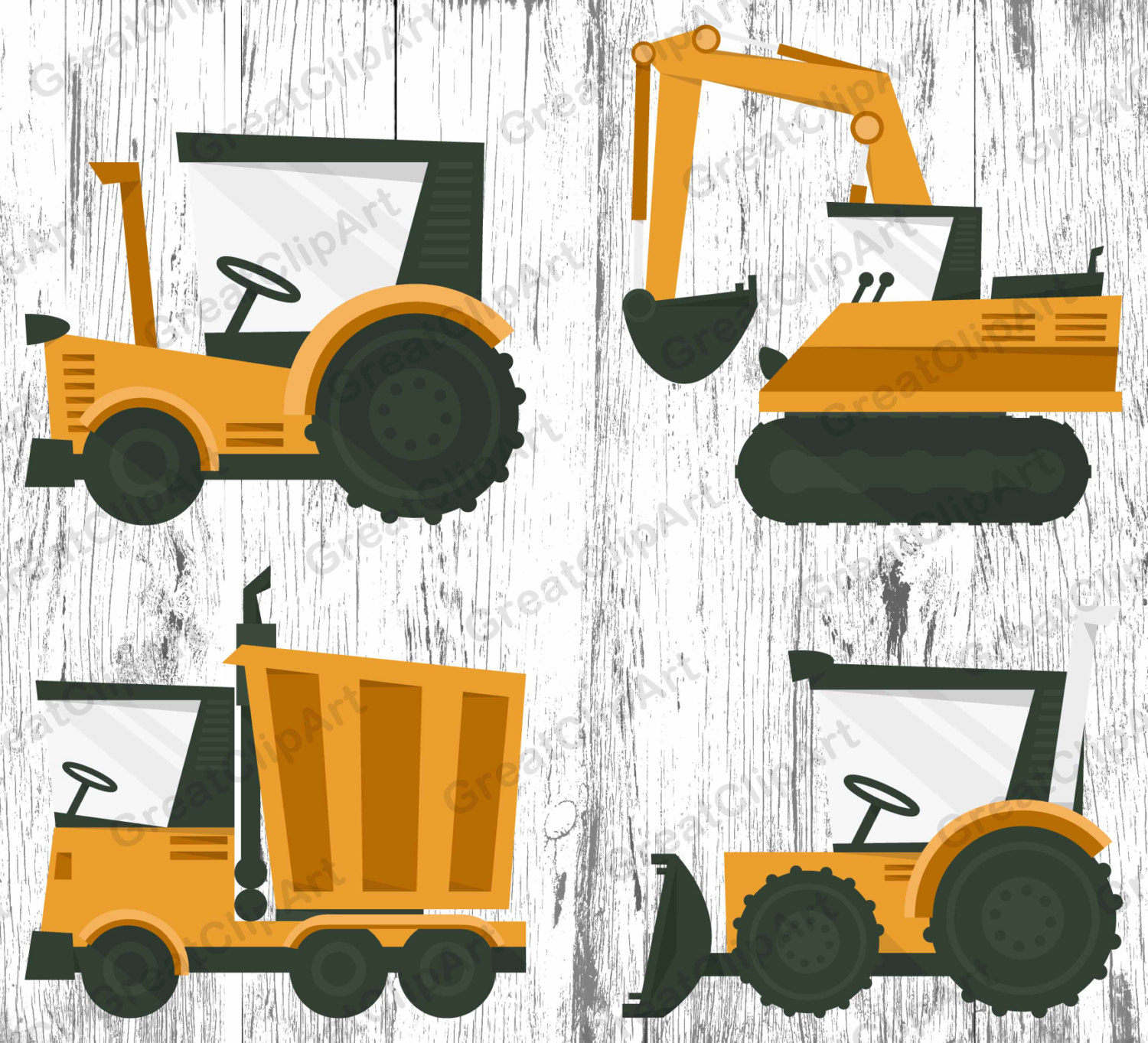 Excovator clipart construction project This file clipart digital truck