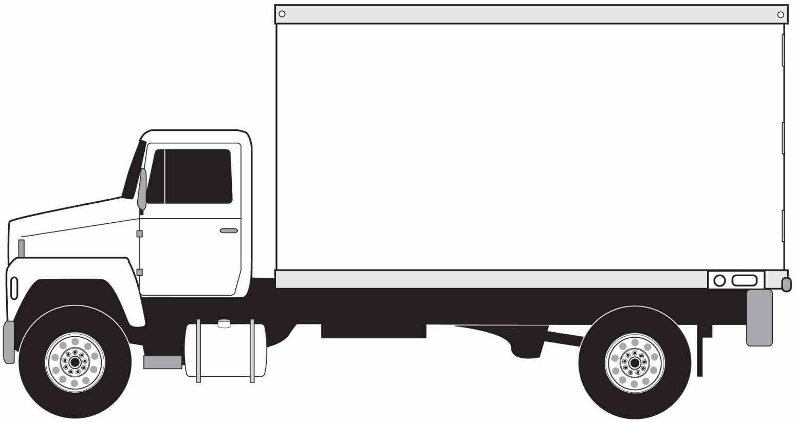 Truck clipart grey Clip of image white sketch