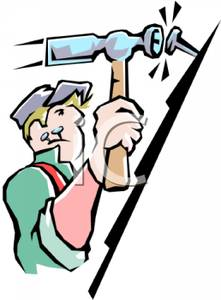 Roof clipart real estate Cartoon Free Royalty Handyman Cartoon