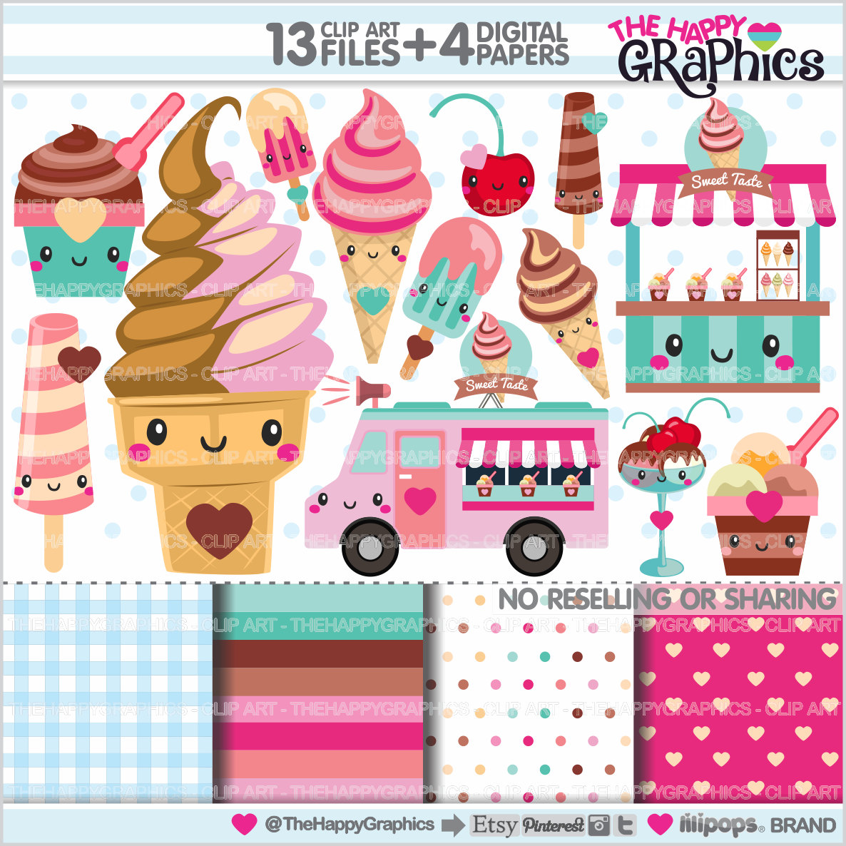 Truck clipart hot pink Ice Truck Cream 80%OFF Etsy