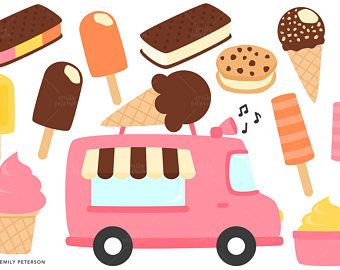 Truck clipart hot pink Etsy Ice Commercial Truck Ice