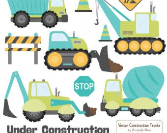 Truck clipart hot pink Baby Truck Baby Pink Construction