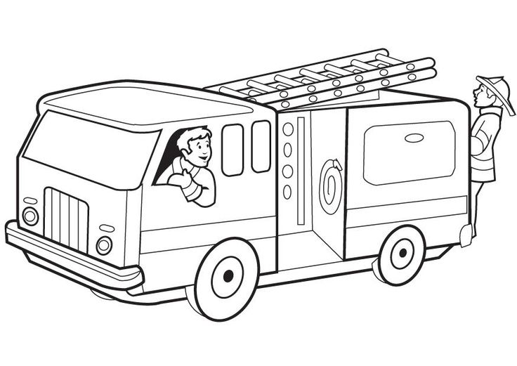 Fire Truck clipart printable #6