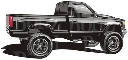 Chevrolet clipart chevy truck Trucks art Trucks Clipart clip