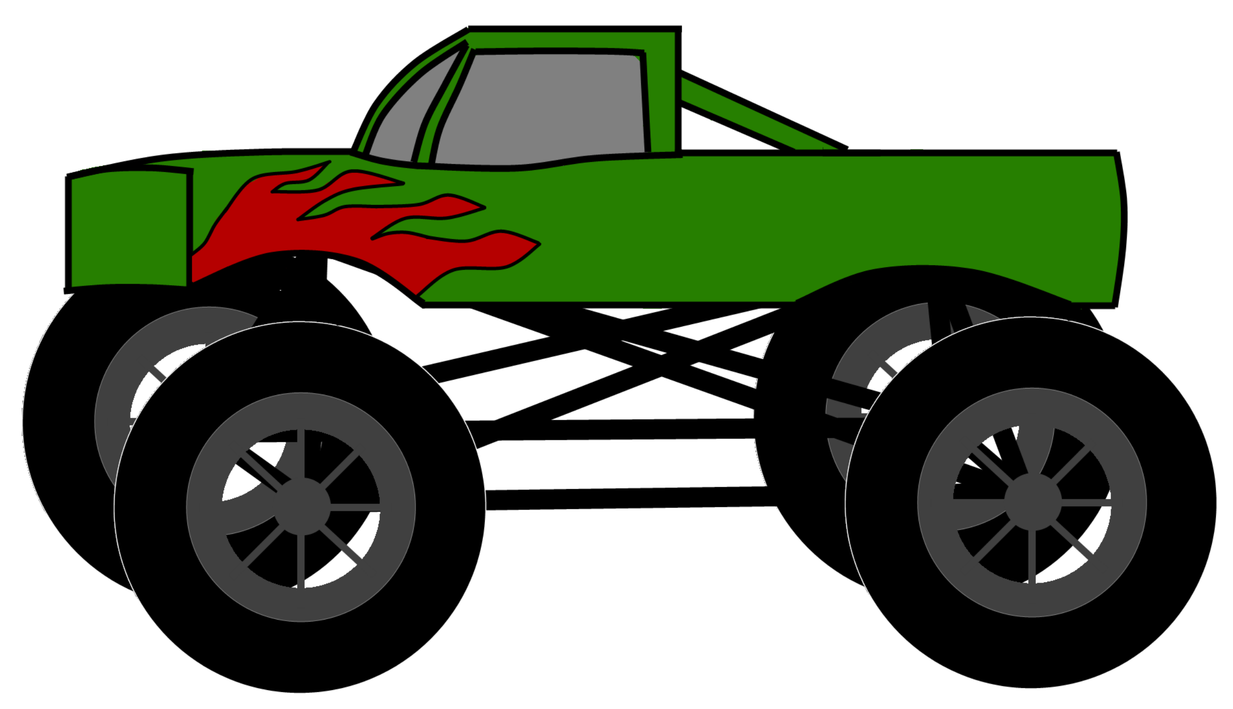Truck clipart monster truck Happy%20monster%20clipart Truck Clipart Black And