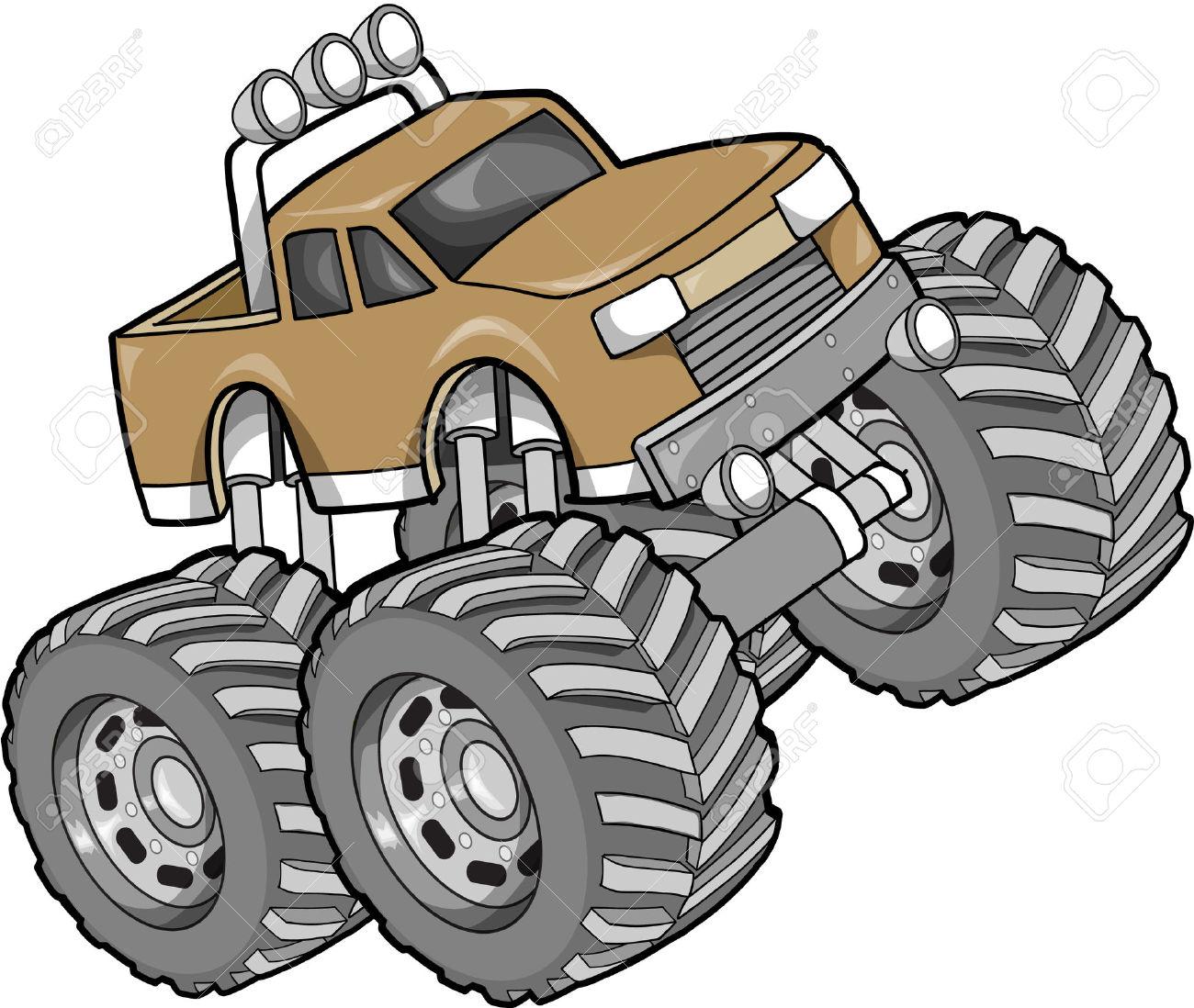 Truck clipart monster truck Monster tire clipart Monster truck