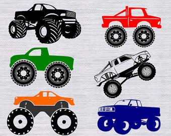Truck clipart monster truck Silhouette Monster Monster SVG bundle