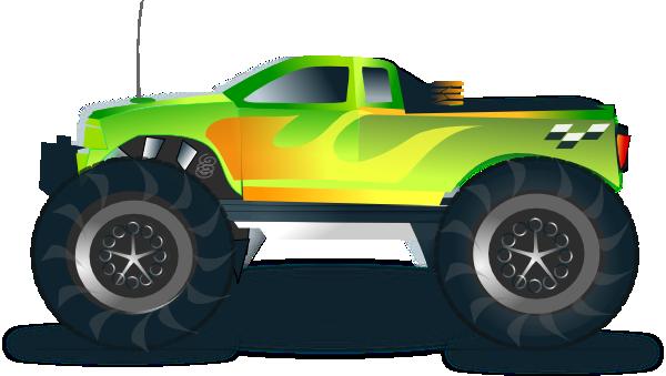 Truck clipart monster truck Monster truck green truck Truck