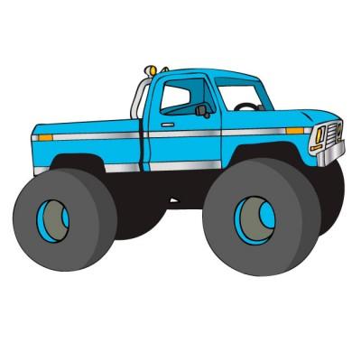 Truck clipart monster truck Monster Clip Art & Monster