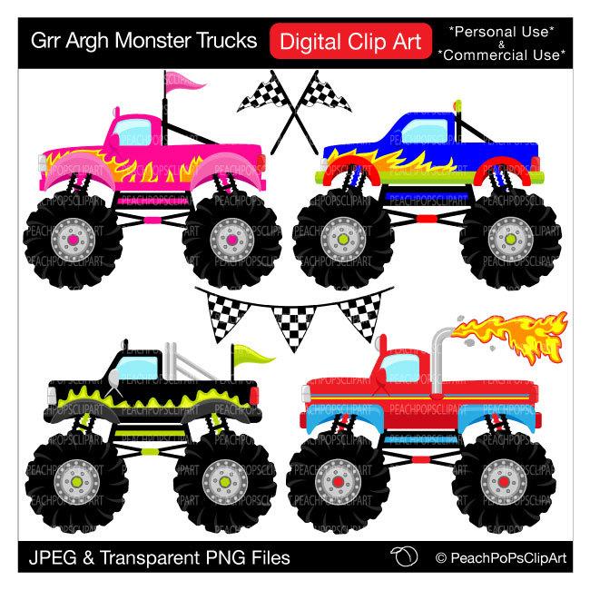 Truck clipart monster truck Art monster monster clipart Grr