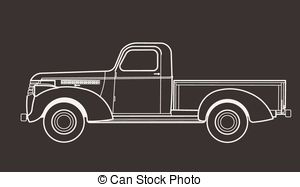 Truck clipart old fashioned Vector Vector 8 vintage silhouette