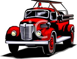 Truck clipart old fashioned Truck Fashioned Fire Old Clipart
