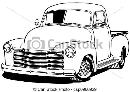 Truck clipart old fashioned Art truck Clipart Chevy pickup