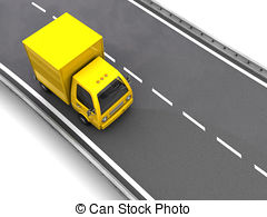 Truck clipart on road Truck delivery Illustrations 764 truck