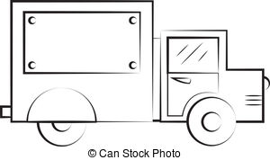 Truck clipart outline  outline 554 and outline