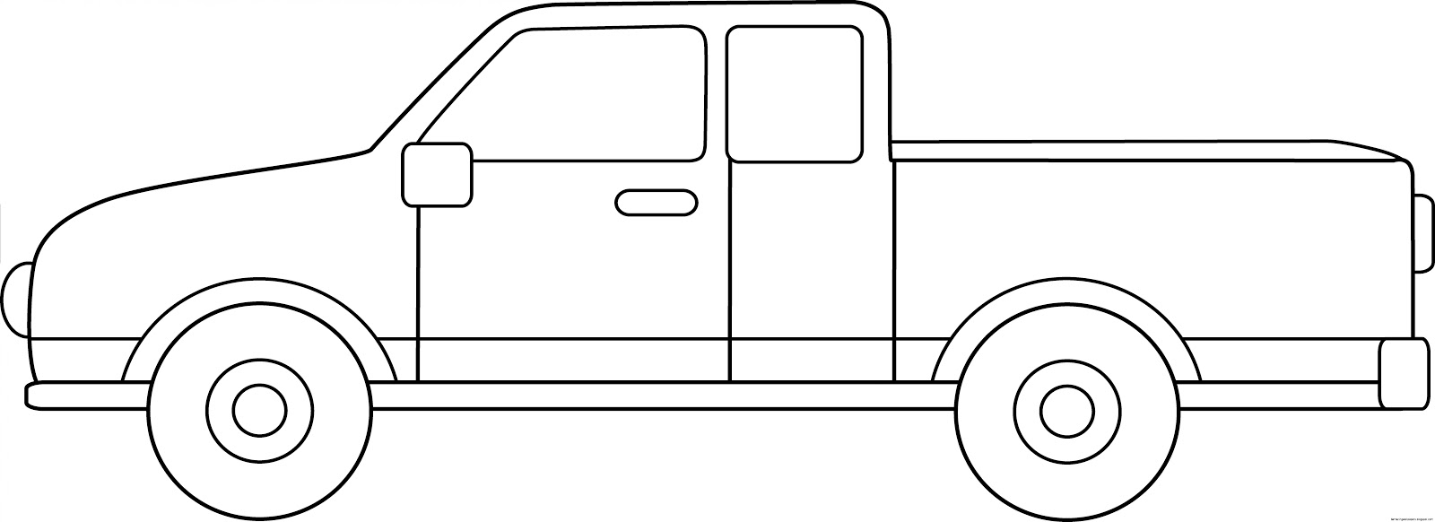 Truck clipart outline Amazing Truck Up Clip Wallpapers