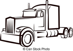 Truck clipart outline  royalty truck and simple