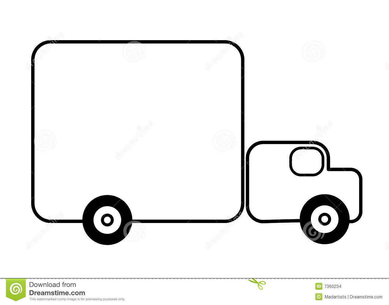 Truck clipart outline Therapy Pickup Truck for Use
