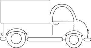 Truck clipart outline Clipart the Image Truck Illustration