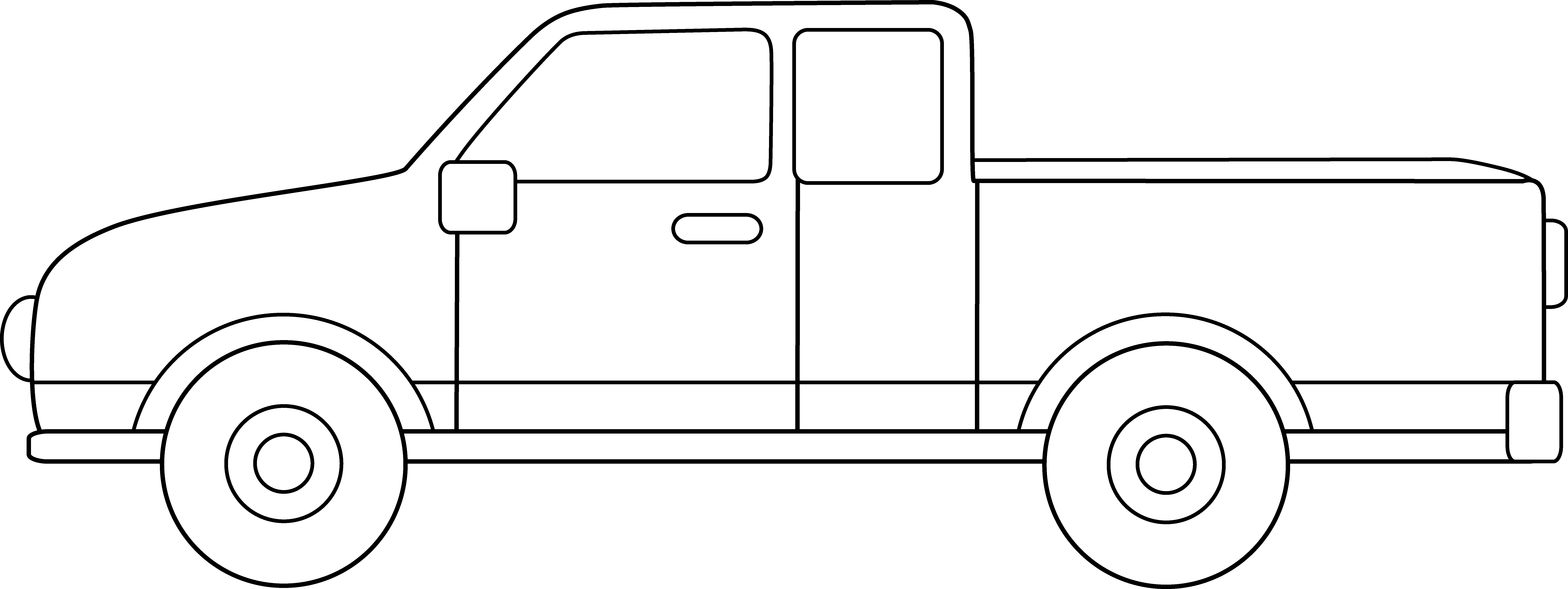 Truck clipart outline Pickup Cliparts Pickup Clipart Truck