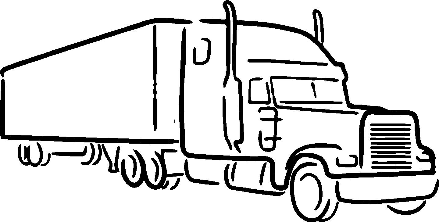 Truck clipart outline Semi Collection Silhouette Best trucks