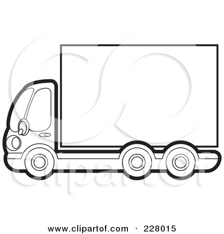 Truck clipart outline Clipart Clipart Pickup Clipart Panda