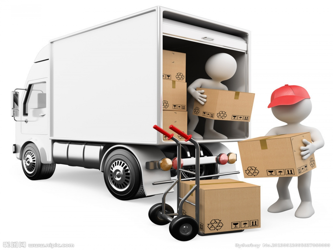 Truck clipart package delivery Logistics unloading clip Truck ornament