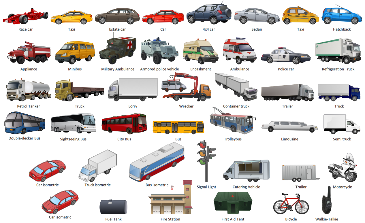 Bike clipart transportation vehicle Transport and Transport Illustrations ConceptDraw
