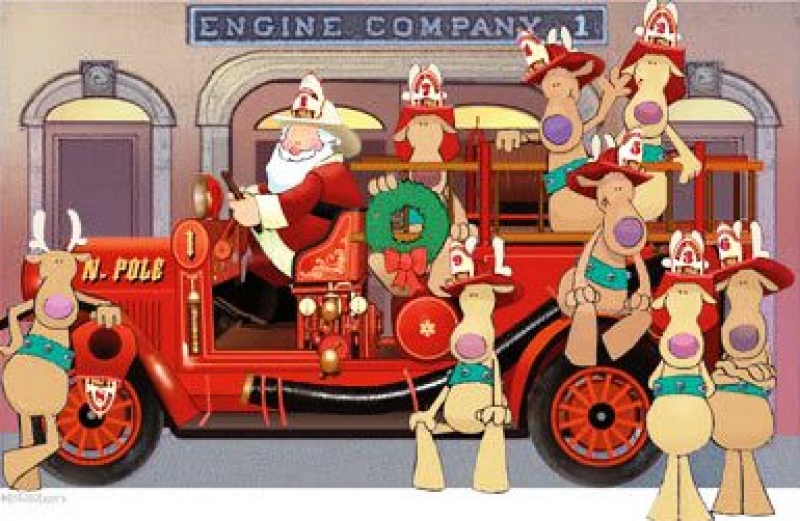 Firefighter clipart santa Firefighter collection Collection christmas Clipart