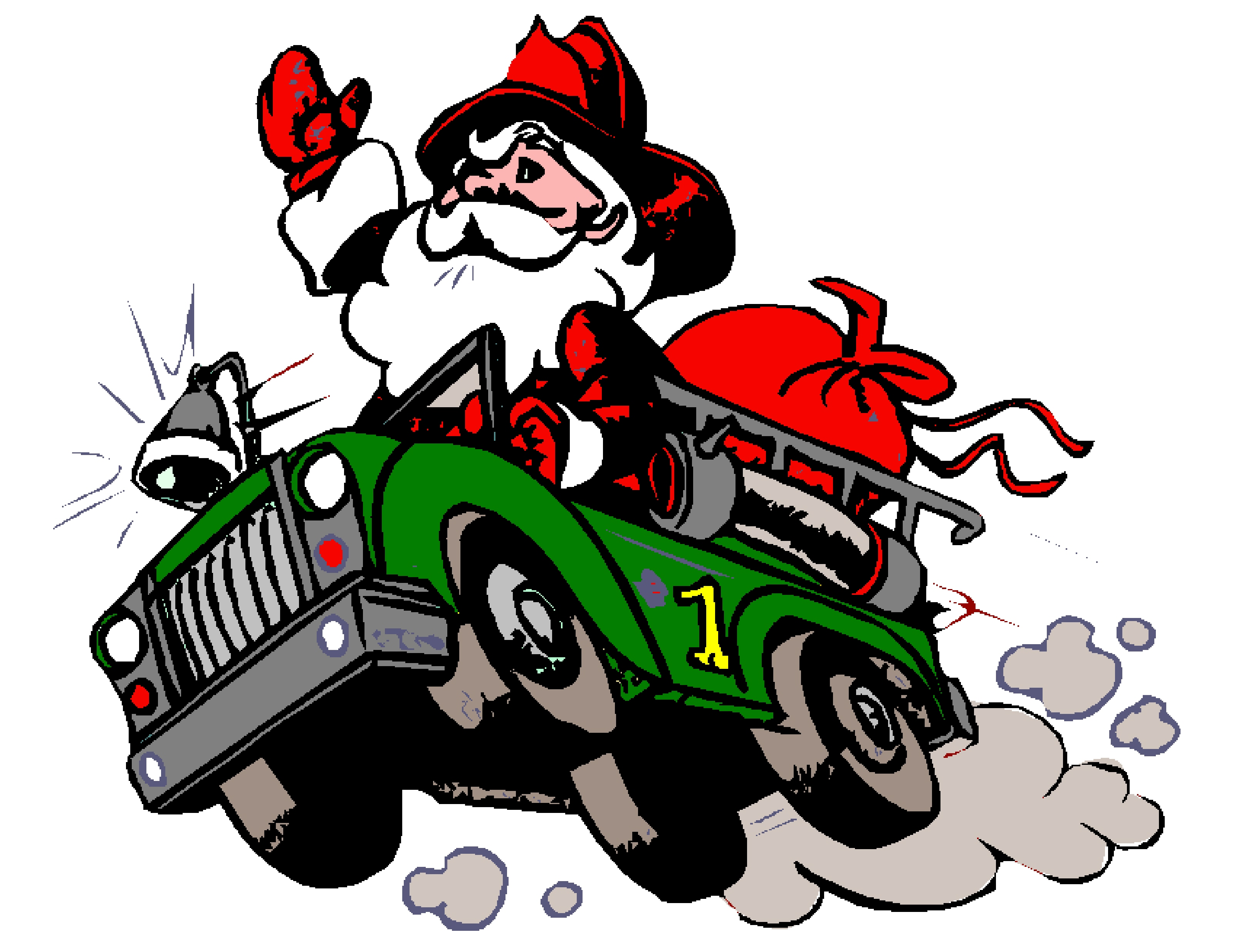 Firefighter clipart vector Firefighter Township Santa S santa